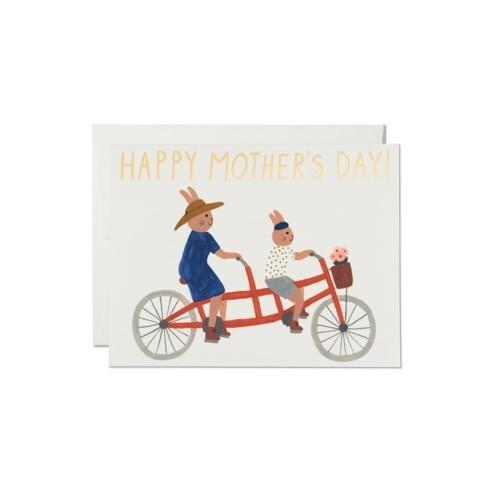 Tandem Bunnies Mother's Day Card