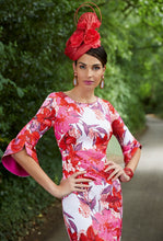 Load image into Gallery viewer, Veni Infantino - Bold hot pink floral dress