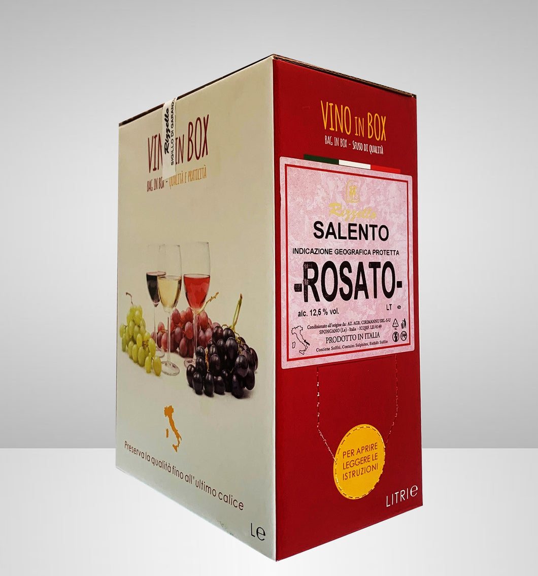Vino in Box - Rosato - I.G.P. Salento freeshipping - Rizzello Vini e Olio