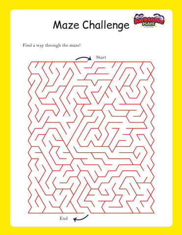 Awesome place DIY KIT FOR KIDS - FREE printables MAZE