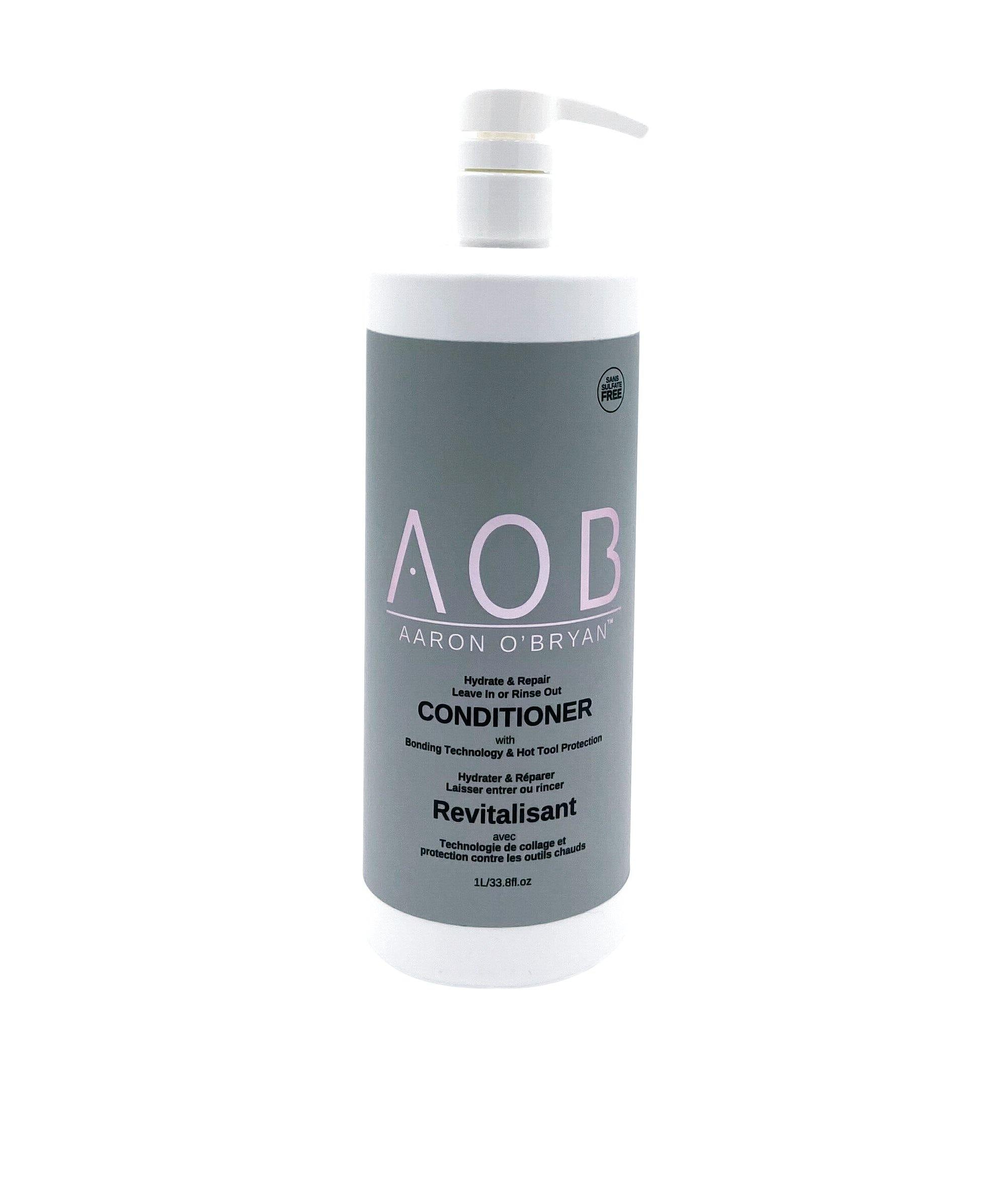 AOB Hydrate & Repair Conditioner (Leave In/Rinse Out) 1 Ltr - AOB Hair Products