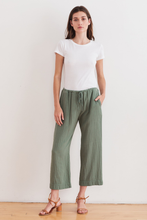 Load image into Gallery viewer, Sidney Cotton Gauze Pant In Moss