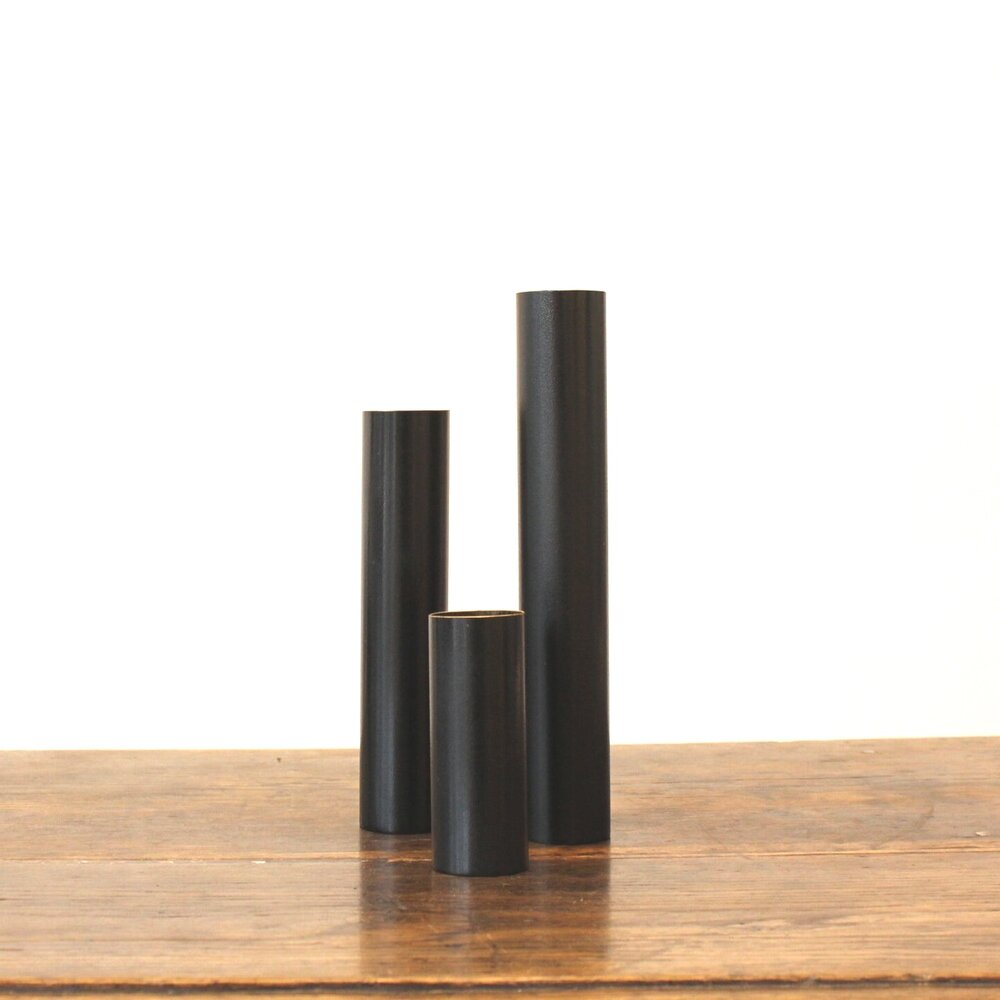 Blackened Brass Vases