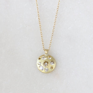 Load image into Gallery viewer, Sapphire Disc Pendant