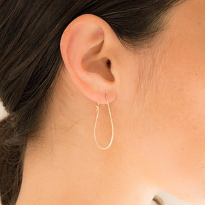 Small Teardrop Hoops