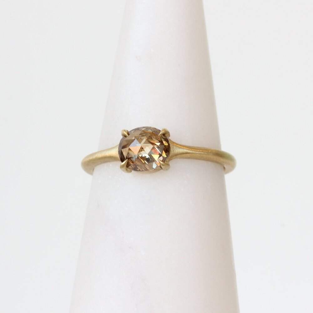 Champagne Diamond Solitaire