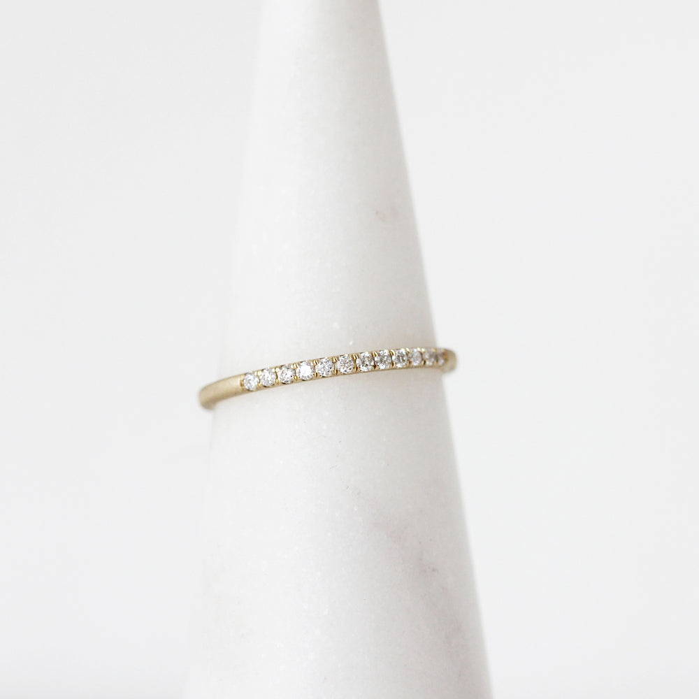 Jennie Kwon 14k yellow gold Pave Diamond Ring