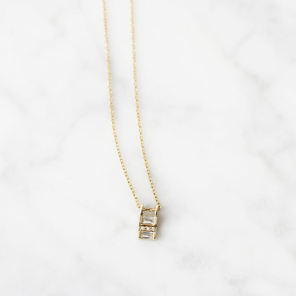 Jennie Kwon Diamond Reflection Necklace