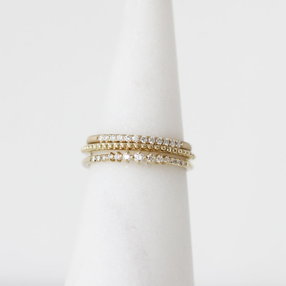 Load image into Gallery viewer, Jennie Kwon 14K and Diamond Ring Stack
