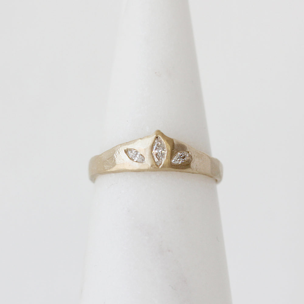 Load image into Gallery viewer, Victoria Cunningham Triple Marquise Diamond Ring