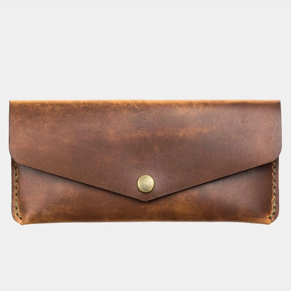 Long Snap Wallet-Tobacco