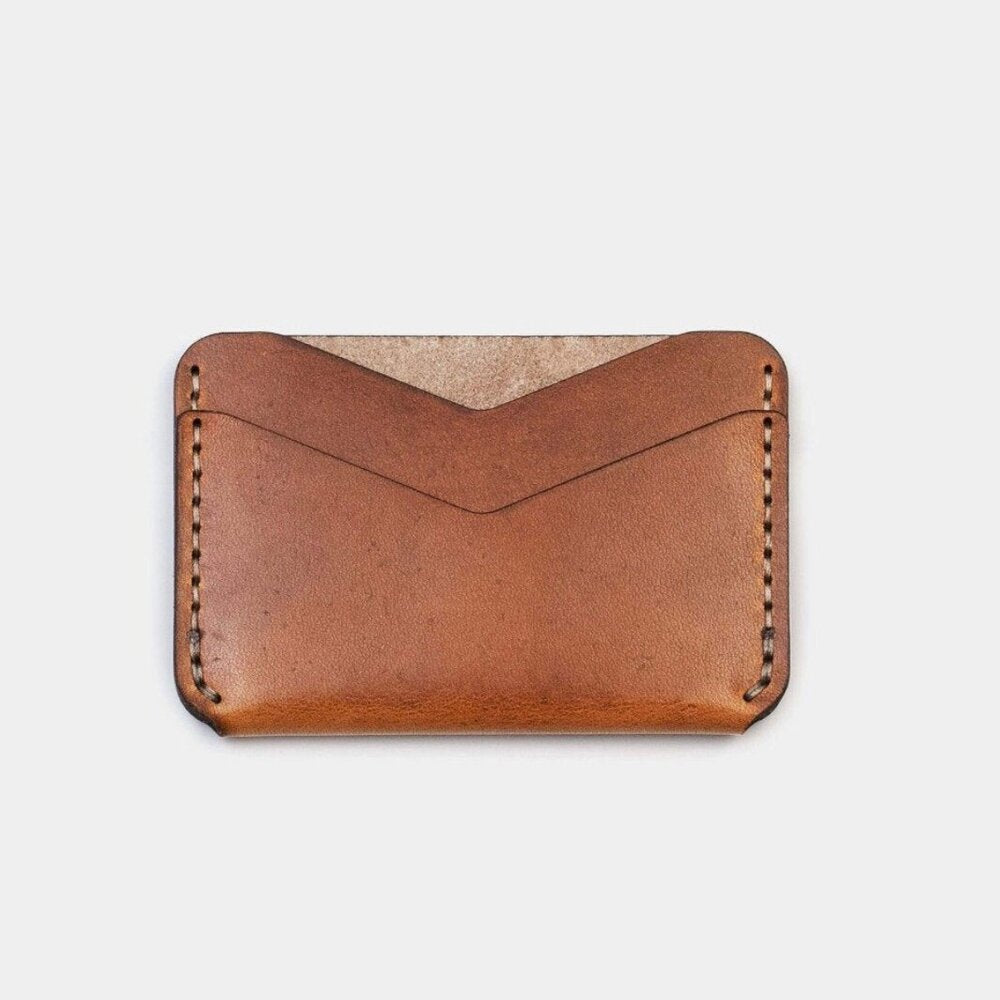 Slim Card Wallet-Tobacco