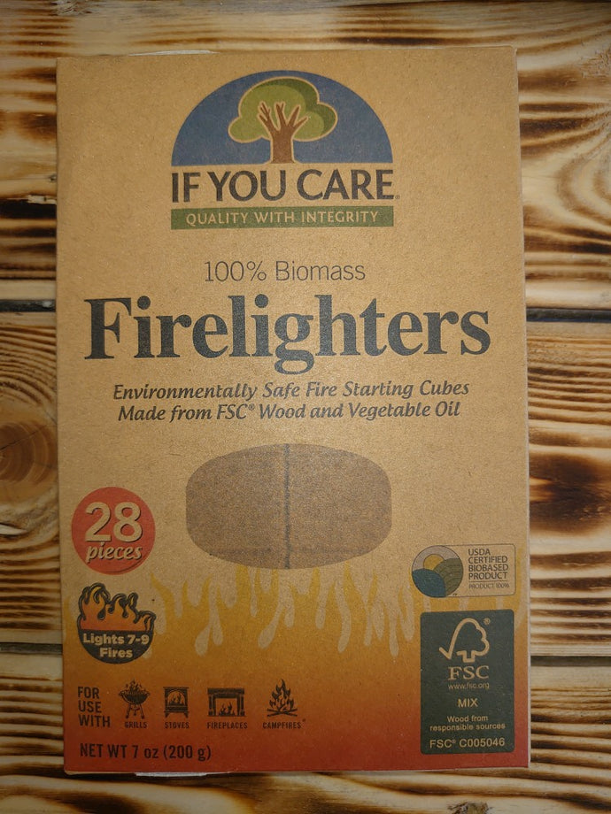 Eco Firelighters - Environmentally safe fire starting cubes.  100% biomass