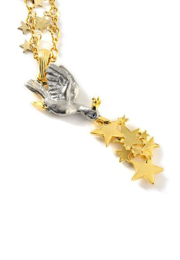 Palnart Poc Duck Queen Lucky Stars Animal Statement Pendant Necklace