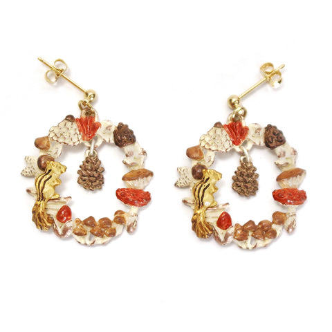 Palnart Poc Autumn Mood Hypoallergenic Surgical Steel Dangle Earrings