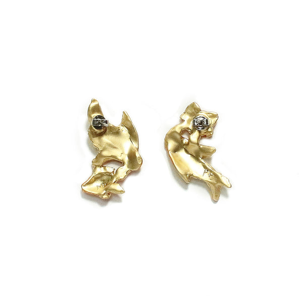 Palnart Poc Goldfish Hypoallergenic Surgical Steel Stud Earrings