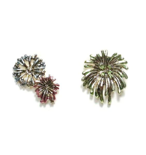 Palnart Poc Fireworks Hypoallergenic Surgical Steel Stud Statement Earrings