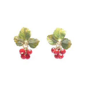Palnart Poc Raspberry Hypoallergenic Surgical Steel Stud Earrings
