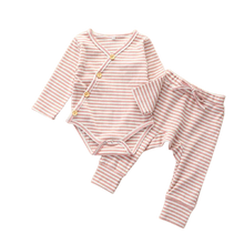 Load image into Gallery viewer, two piece baby girl matching ribbed set pink