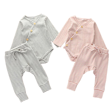 Load image into Gallery viewer, two piece baby matching ribbed set