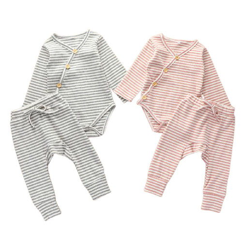 two piece baby matching ribbed set