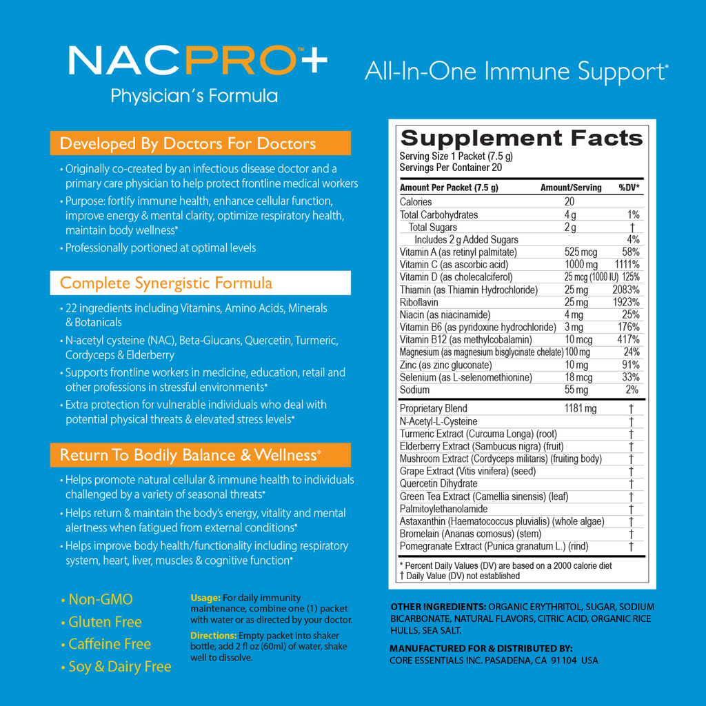 NACPro+ Supplement Facts