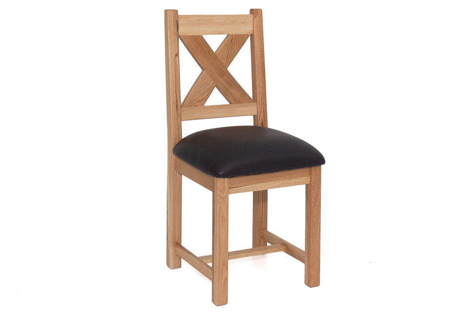 Bradley Dining Chair With Faux Leather Seat
