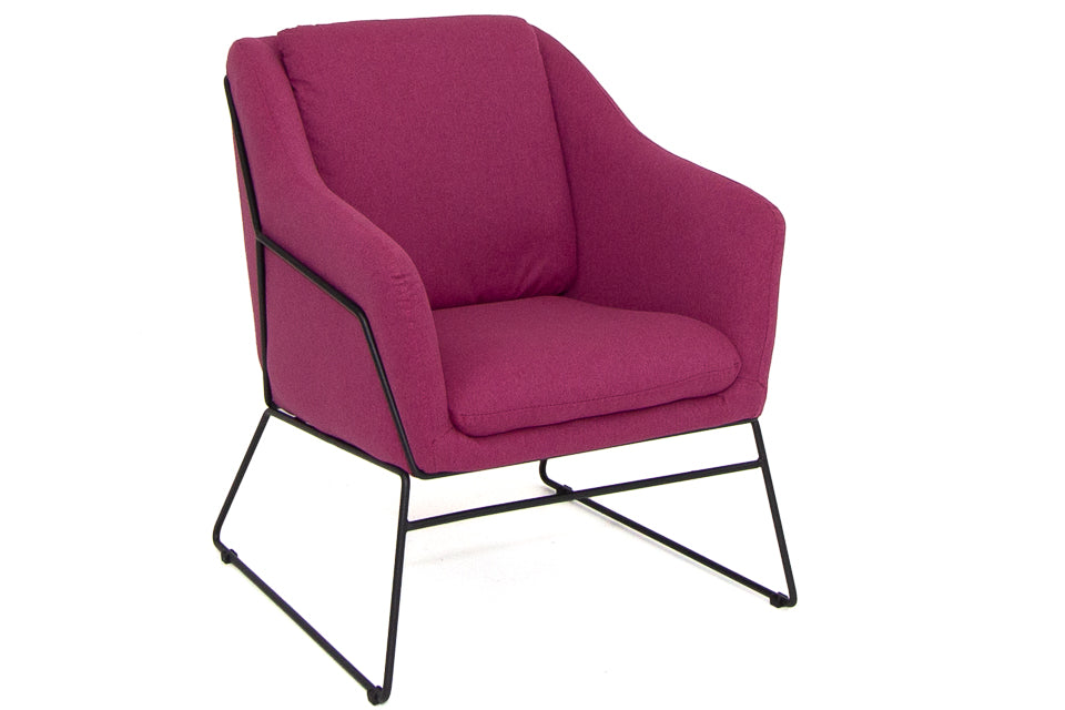 Dara Accent Chair - Woven Berry