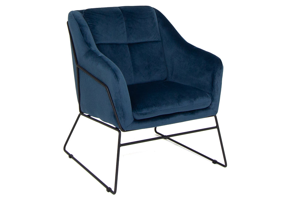 Haley Accent Chair - Blue