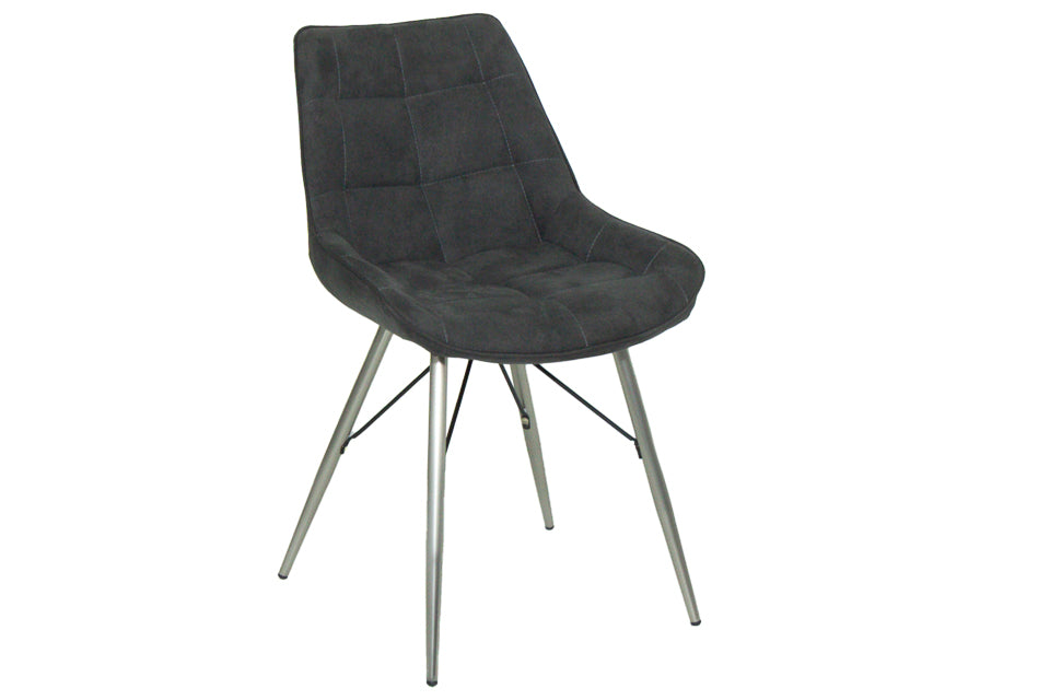Ray Dining Chair Grey Fabric
