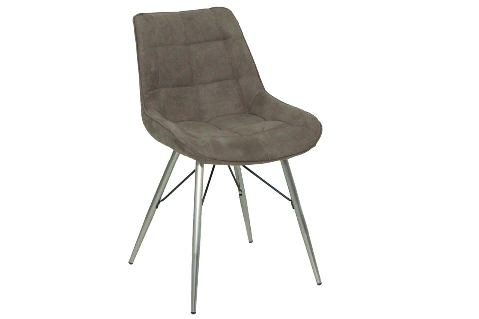 Ray Dining Chair Taupe Fabric