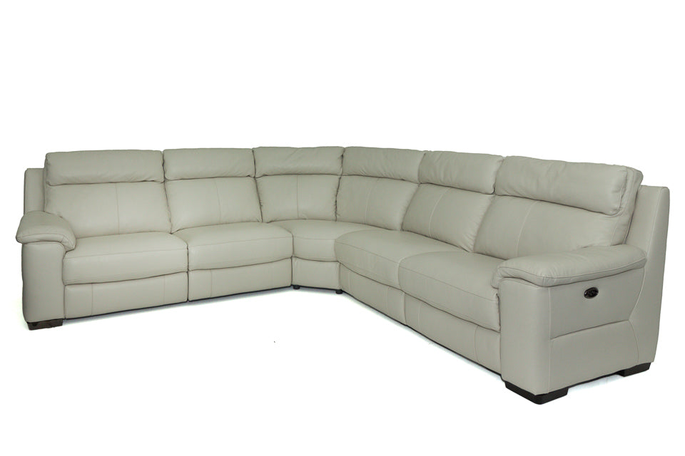 Russell Reclining Large Corner Group in Leather