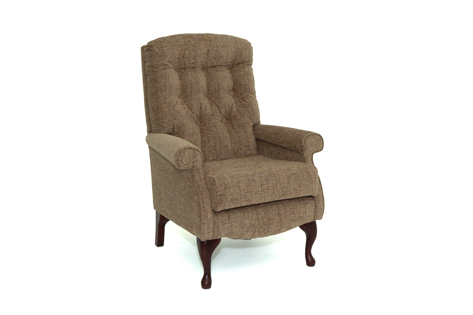 Shildon Low Seat Chair With Mahogany Legs
