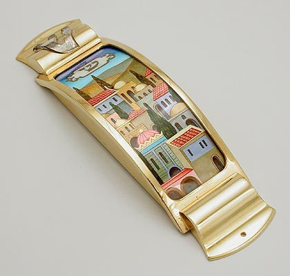 Hand painted Mezuzah Case
