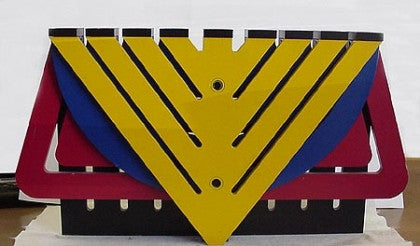 "Four colored Chanukiah By Zelig Segal Z""L"