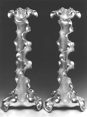 M.Berman's scultptured Candlesticks