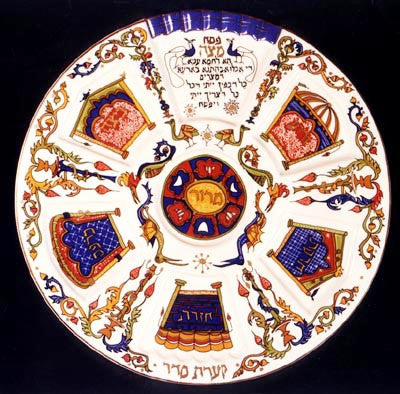 The Barcelona Seder plate by Ella Weizman
