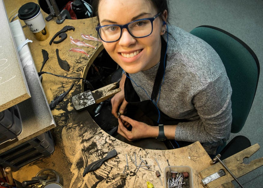 Dovile runs her jewellery business from bench space in Birmingham to rent