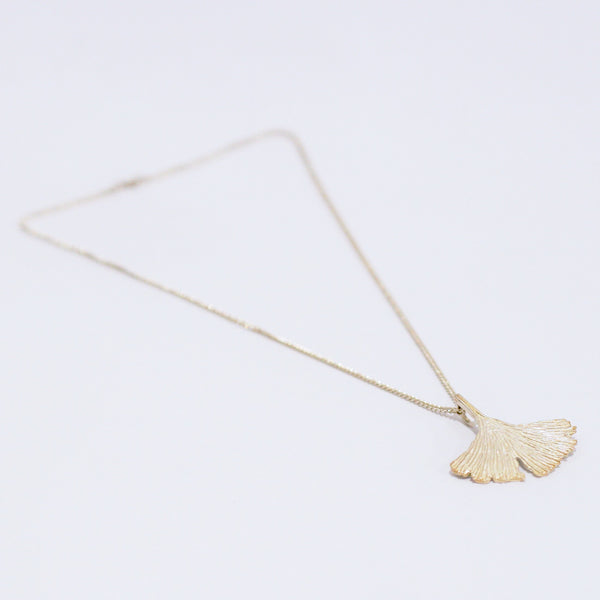 Silver Ginkgo Leaf Necklace