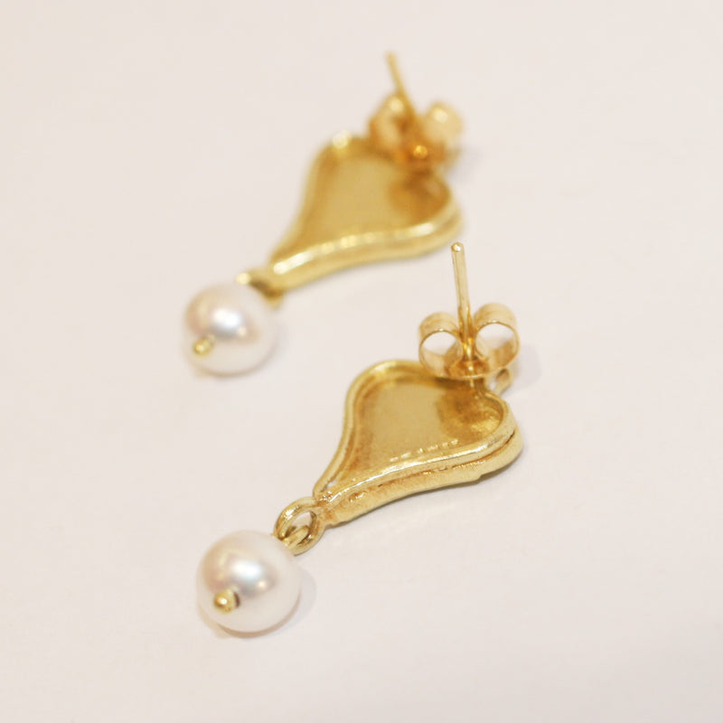 Pearl Scroll Earrings - No. 22