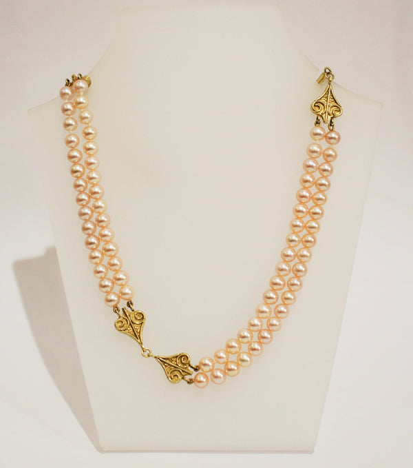 Pearl and 18ct Gold Necklace