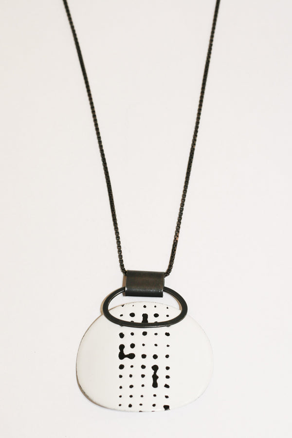 Enamel Dot Marked Pendant