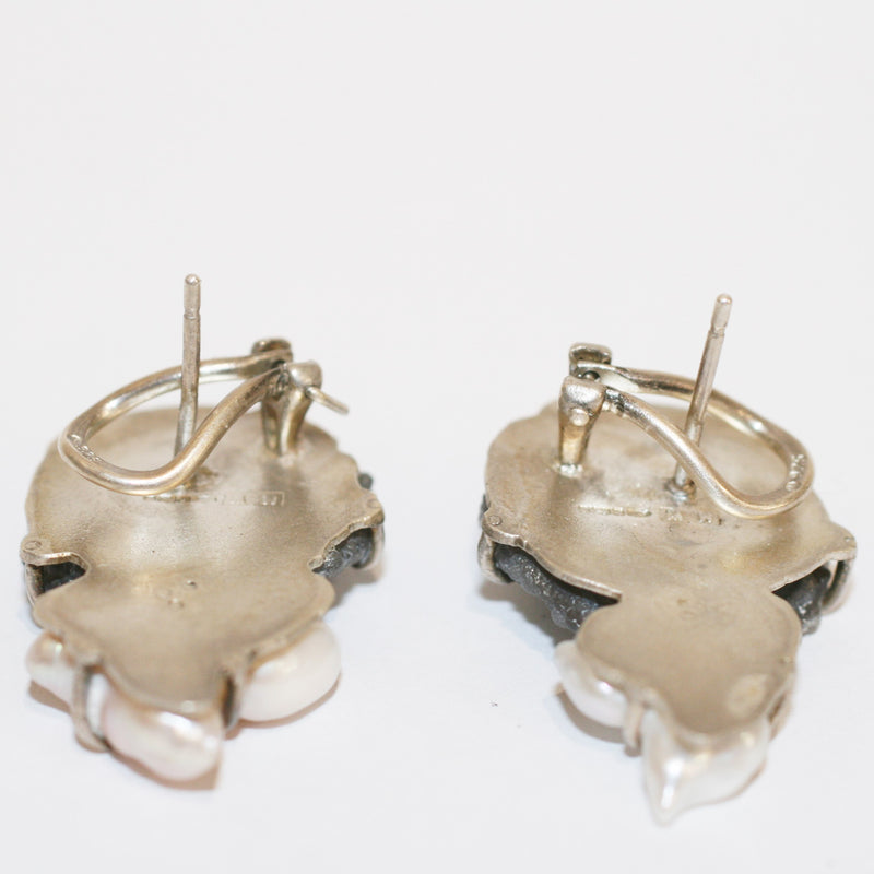 Agate and Pearl Earrings - No. 12