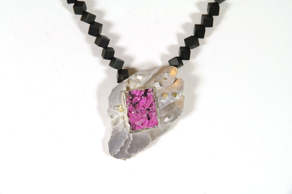 Cobalt Calcite Necklace - No. 18