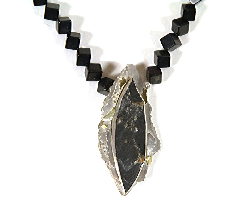 Slate with Pyrites Necklace – No. 21