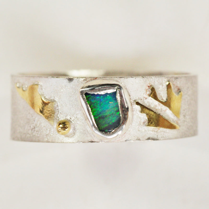 Silver and Opal Ring - No. 3