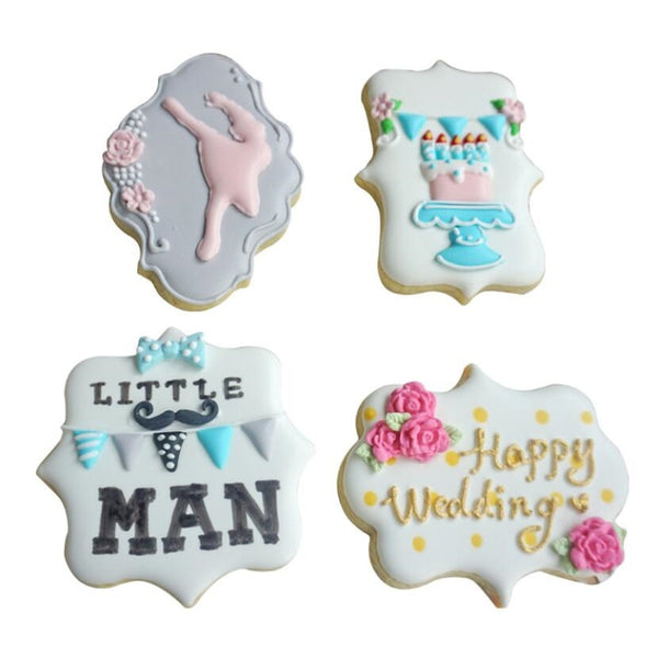 4pcs plastic biscuit molds