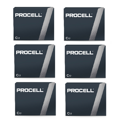 PROCELL 1.5V SIZE C PC-1400 ALKALINE BATTERY BOX OF 72