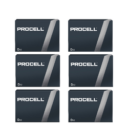 PROCELL 1.5V SIZE D PC-1300 ALKALINE BATTERY BOX OF 72