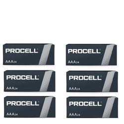 PROCELL 1.5V SIZE AAA PC-2400 ALKALINE BATTERIES BOX OF 144